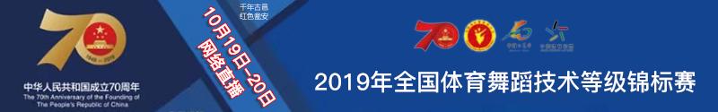 2019年全国体育舞蹈技术等级锦标赛网络直播